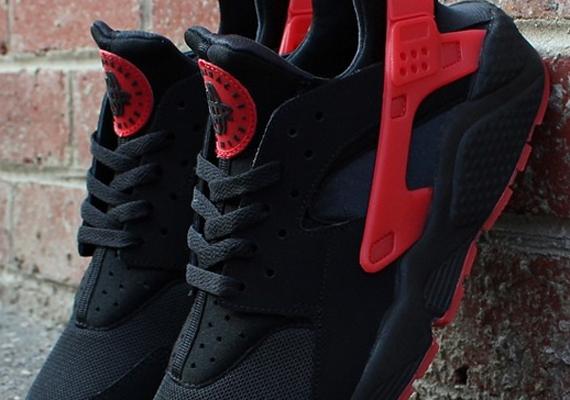 Tous Nike Rouge Huarache / Noir