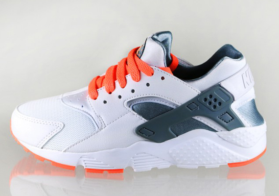 80cbd8678939 Nike Air Huarache GS - White - Magnet Grey - Bright Mango - SneakerNews.com