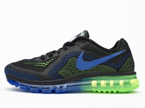 nike air max 2014 black/photo blue/electric green