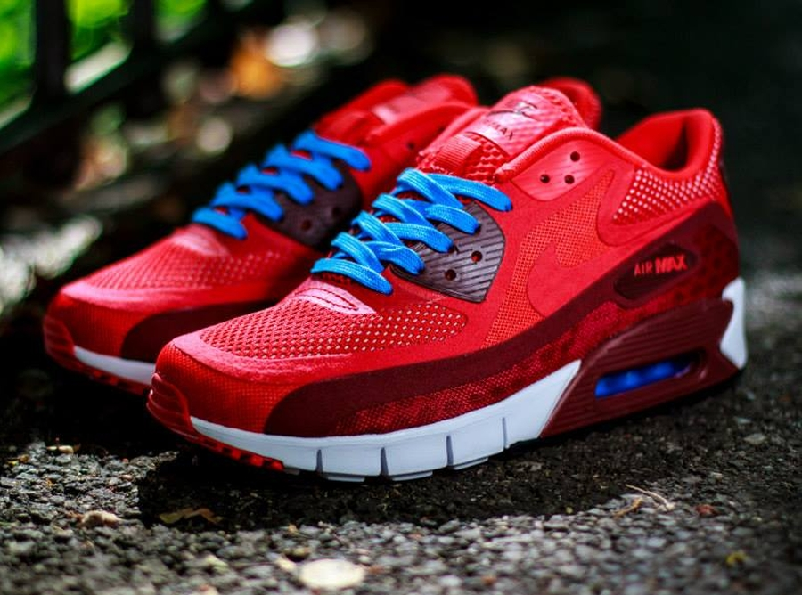 buty nike air max 90 breathe chilling red