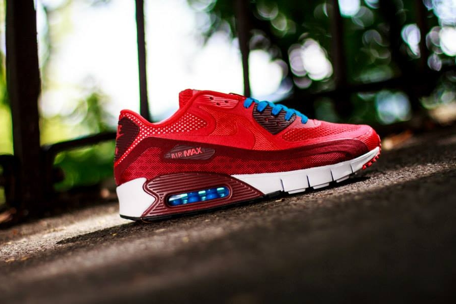 Nike Air Max 90 Hyperfuse Azul Atada Roja oFGea2