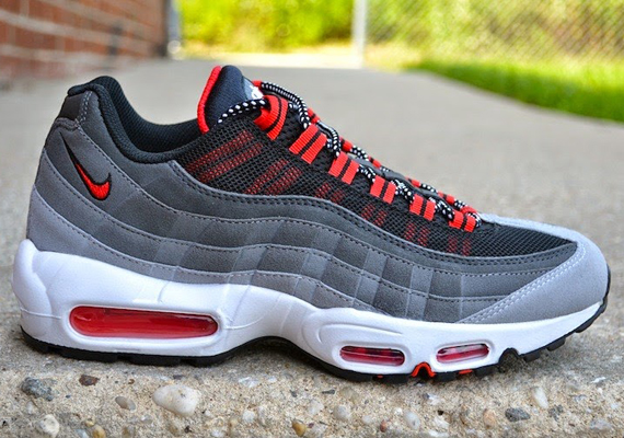 Nike Air Max 95 Wolf Grey Challenge Red Sneakernews Com