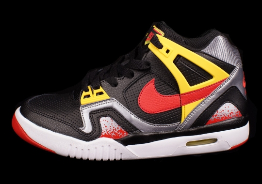 Nike Air Tech Challenge II GS – Black – University Red – Vibrant Yellow – Grey