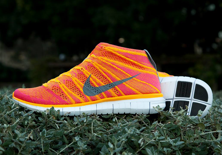 best selling authentic finest selection Nike Womens Free Flyknit Chukka - Atomic Mango - Hyper Punch ...