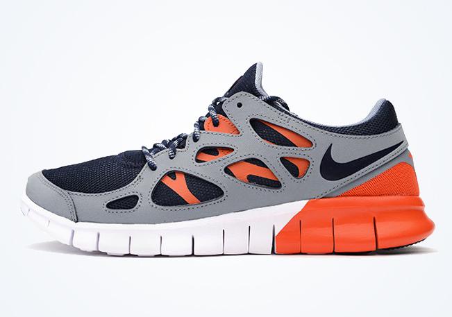 Nike Free Run +2 Dark Obsidian Orange Neutral Grey