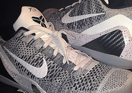Nike Kobe 9 Elite Low – White – Black – Wolf Grey