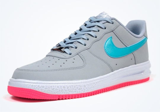 Nike Lunar Force 1 '14 Low – Grey – Teal – Pink