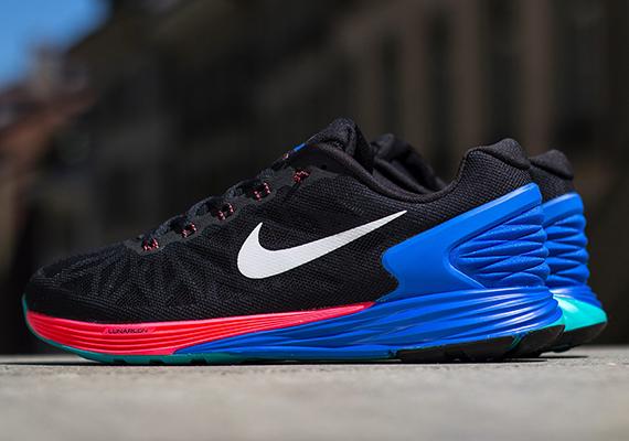 buy online b207c 36298 Nike LunarGlide 6 – Black – Hyper Cobalt – Hyper Punch
