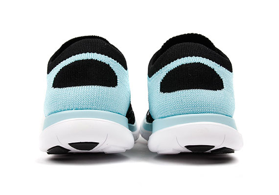 Nike Free 4.0 Zapatos De Las Mujeres Flyknit Blanco / Negro Gumbottom / Azul CWwTh1BF