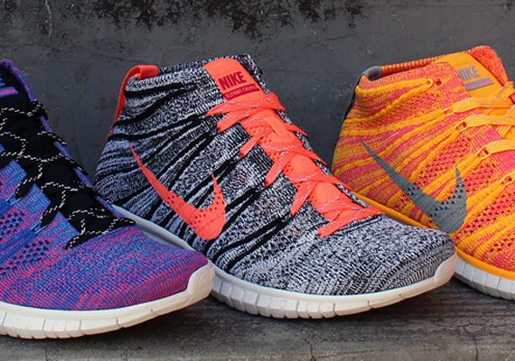 Nike Womens Free Flyknit Chukka - Grey - Black - Pink - SneakerNews.com 803a9d769752