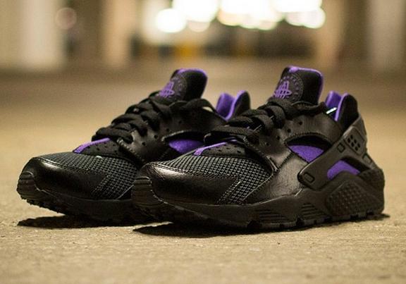 Nike Womens Air Huarache - Black - Purple - SneakerNews.com
