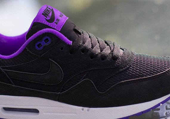 online store fe417 58967 Nike WMNS Air Max 1. Color  Black-Black Hyper Grape-White Style Code   599820-006. Advertisement