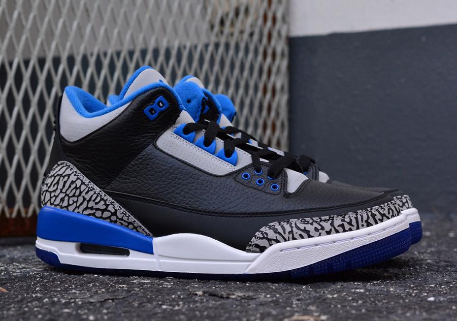jordan 3 sport blue detailed look