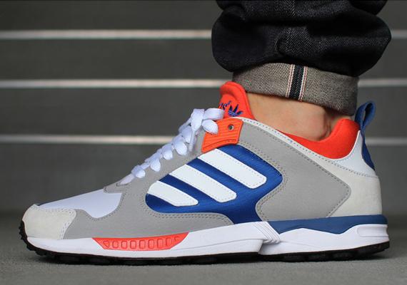 a65a44e10703e adidas Originals ZX 5000 Response – White – Blue – Orange