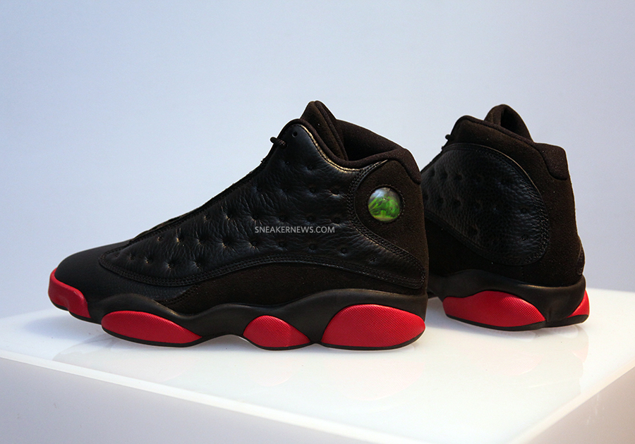 "timeless design 898c7 3dd1a A Detailed Look at the Air Jordan 13 ""Black Red"" For December 2014"
