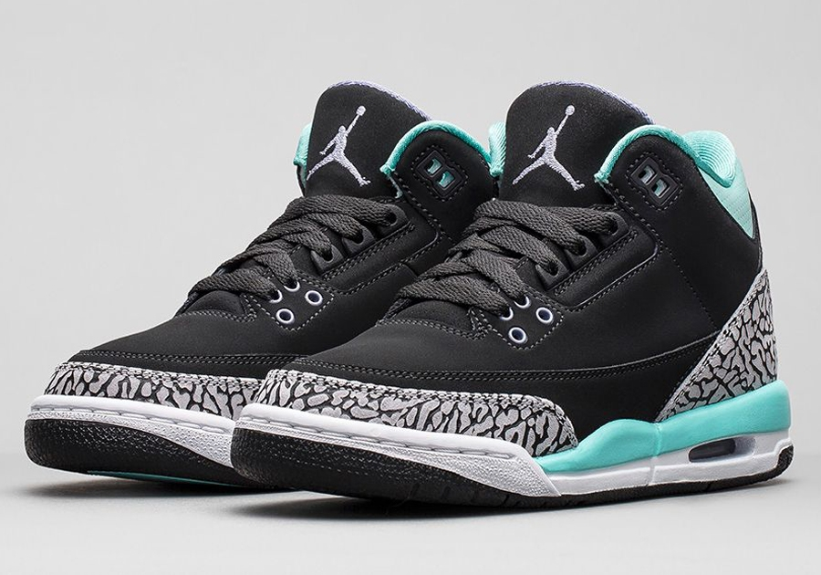 air jordan 3 gs bleached turquoise nikestore release. Black Bedroom Furniture Sets. Home Design Ideas
