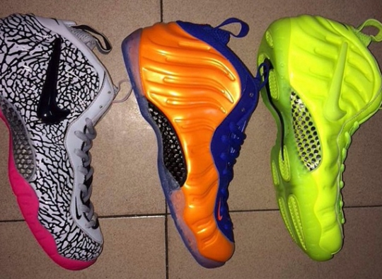 "Nike Air Foamposite ""Volt"", ""Knicks"", and ""Elephant Print"" Releasing in 2014"