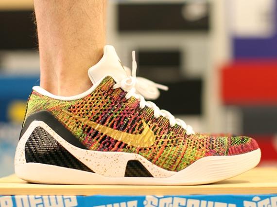 sports shoes 93e55 e47e6 NIKEiD Brings Back Multicolor Flyknit for Kobe 9 Elite Low