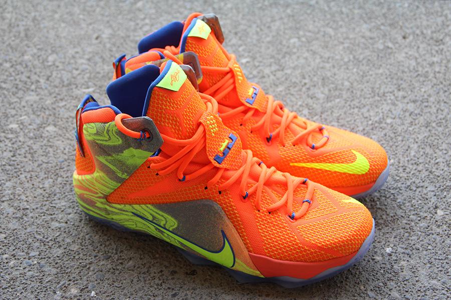 Nike Lebron 12 Orange Volt Sneakernews Com