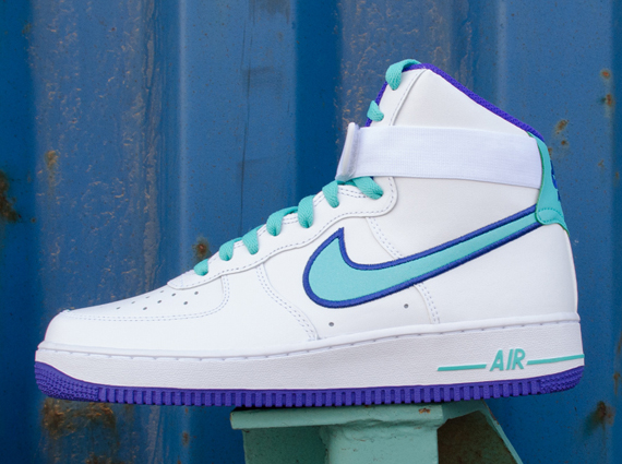 best service fb076 15d7c ... cheapest nike air force 1 high white dark concord hyper jade  sneakernews 9599d 3bfcd