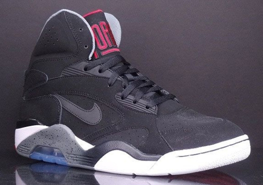 online store 582e3 f05af Nike Air Force 180 Mid – Black – Cool Grey – University Red