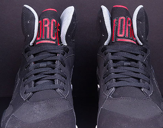 size 40 c639d 879d5 Nike Air Force 180 Mid Color  Black Cool Grey-University Red Style Code   537330-002. Advertisement