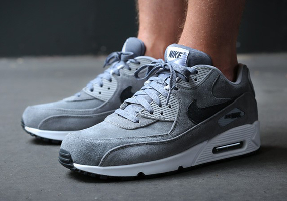 nike air max essential grey suede shoes