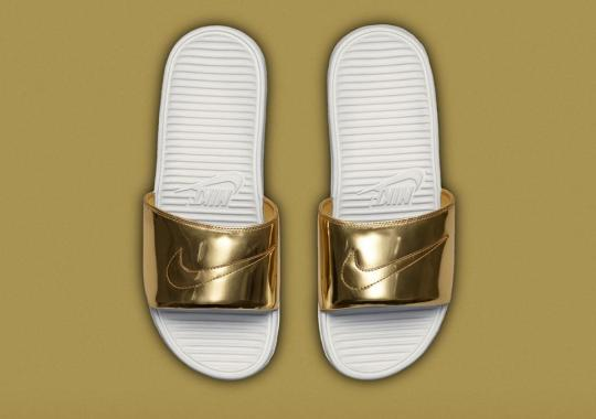 "Nike Benassi Solarsoft Slide ""Liquid Metal Pack"" – Release Date"