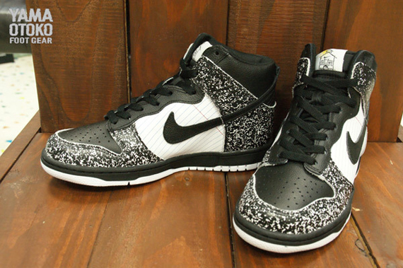 buy popular cdef7 7fbf9 ... notebook mens shoes size 9 423f8 d7543 free shipping nike dunk hi  premium bts qs gs color black white university blue style code ...