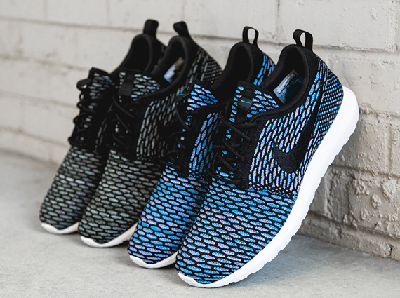 Two initial colorways are arriving, one featuring a Sequoia/ Light Armory Blue construction for an added vibrance atop the Nike Flyknit Roshe ...