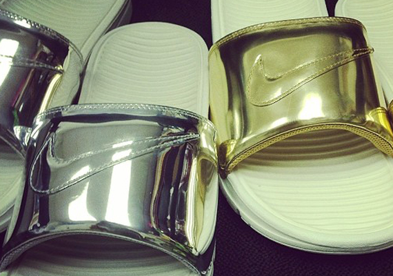 6e82ec52bb75 Nike Brings Liquid Metal To The Benassi Slides - SneakerNews.com