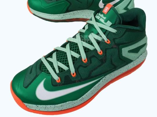 Nike LeBron 11 Low – Mystic Green – Medium Mint – Bright Crimson