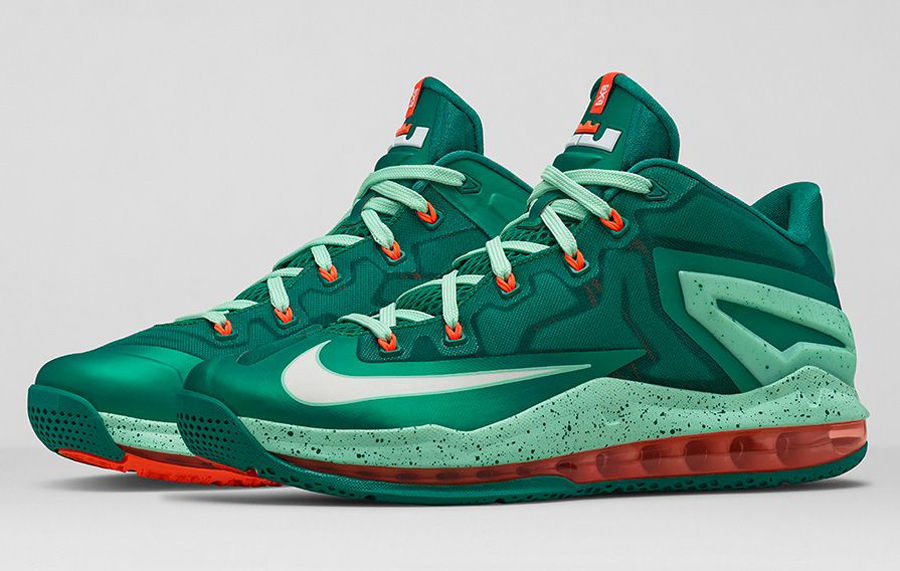 lebron 11 low green and white - photo #10