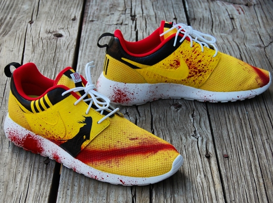 "Nike Roshe Run ""Kill Bill"" Custom by GourmetKickz"