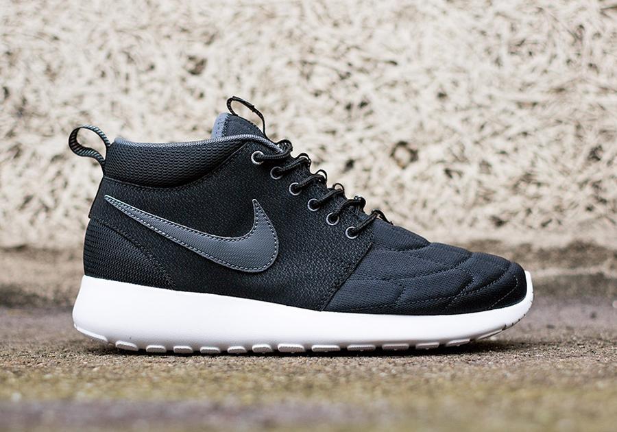 gmeelc Nike Roshe Run Mid - Black - Dark Grey - SneakerNews.com