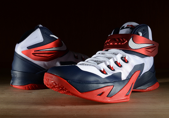 "The Nike Zoom Soldier 8 ""USA"" for LeBron James is releasing on August 9th 13f293ea9ecd"