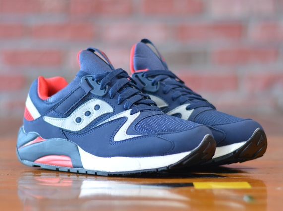saucony grid 9000 grey red