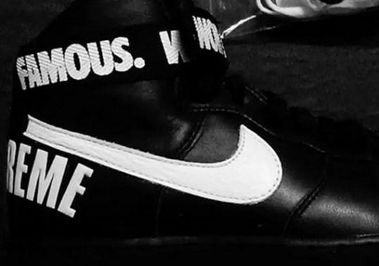 """Supreme x Nike Air Force 1 High """"Black"""""""