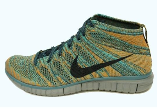 Nike Free Flyknit Chukka – Mineral Teal – Dark Obsidian – Hyper Jade – Copper