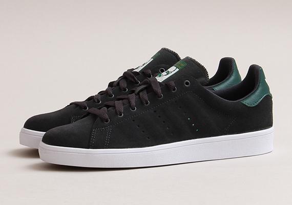 adidas skateboarding stan smith vulc black forest