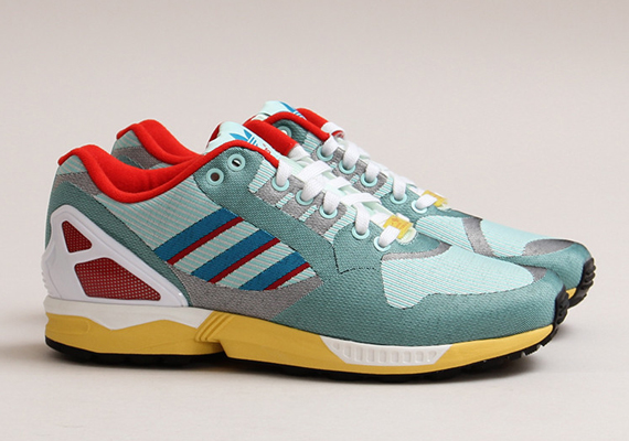 """This past weekend, adidas released the ZX Flux Weave """"OG Aqua"""", a pair that cleverly nodded at the classic colorway belonging to the adidas ZX 8000."""