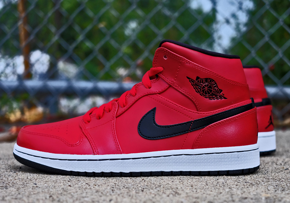 Air Jordan 1 Mid: Gym Red   Available