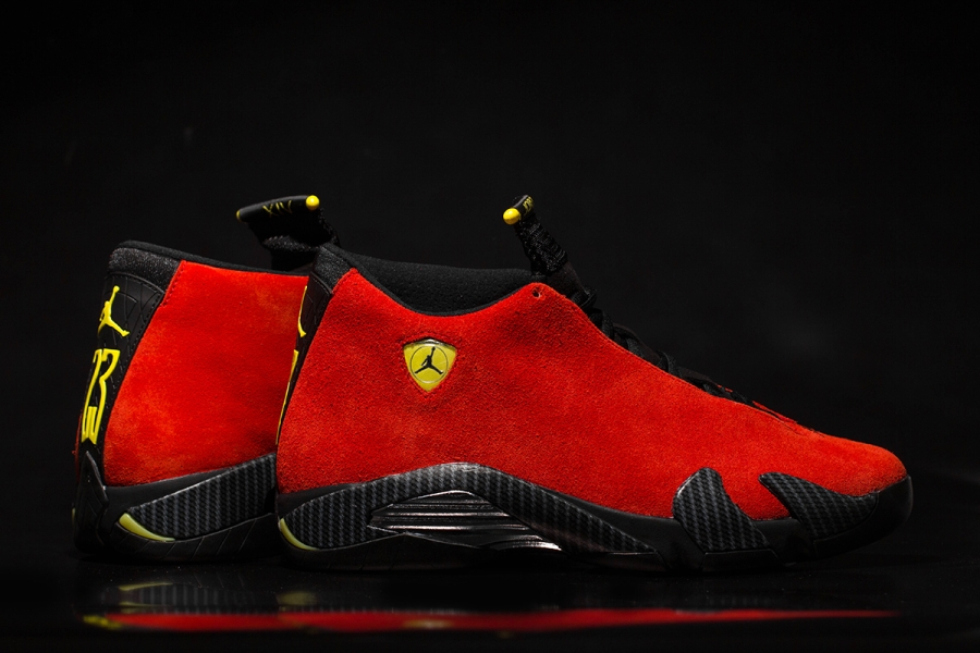 brand new db4bc cd833 sale air jordan 14 ferrari arriving at retailers sneakernews d7d31 eedb3