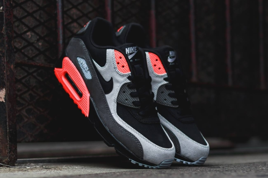 d78a07fff70c Nike Air Max 90. Color  Black Black-Medium Ash-Total Crimson Style Code   666578-003