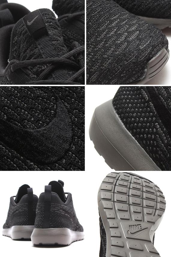 Nike Roshe Run Flyknit Nero / Midnight Fog e0qruxdU