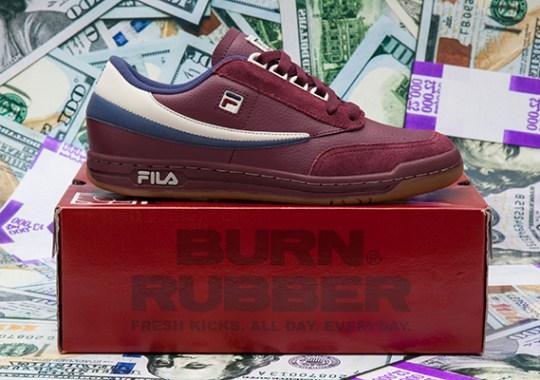 "Burn Rubber x Fila Tennis Low ""Doughboy"" – Release Date"