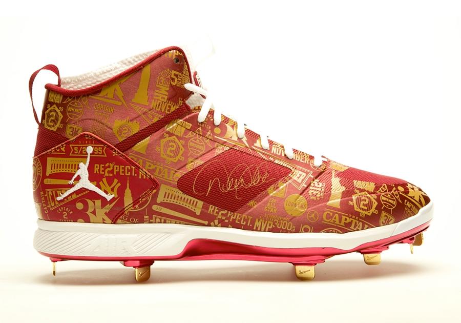 cac99cf50 Derek Jeter x Jordan Brand Farewell Cleats Up For Auction - SneakerNews.com