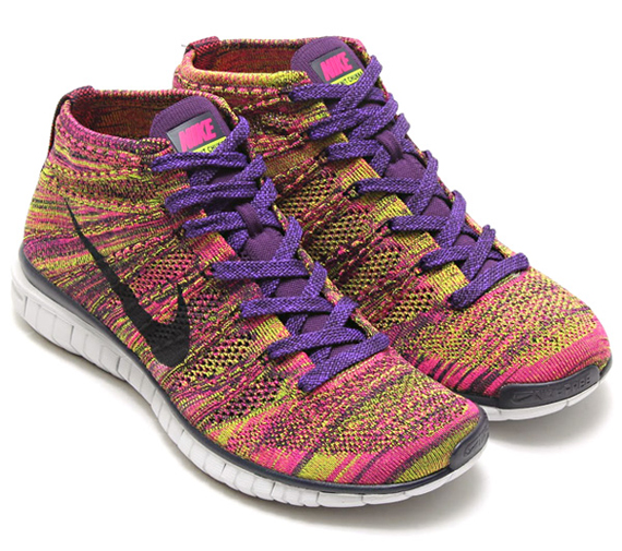 Nike Chukka Flyknit Sans Grand Violet Noir Nike Fireberry