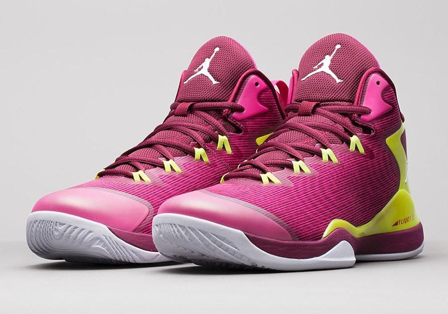 Jordan Super.Fly III Fusion Pink Volt Deep Garnet 684933 615 New Basketball Shoes