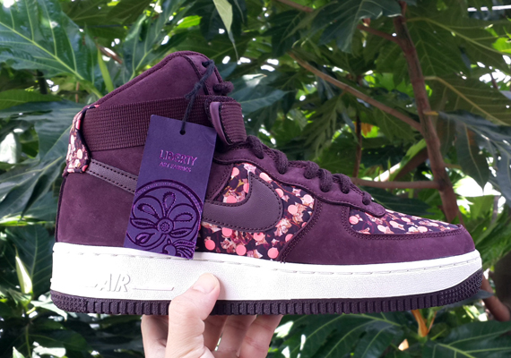buy online 124f4 f9d9a Liberty x Nike Air Force 1 High – Burgundy